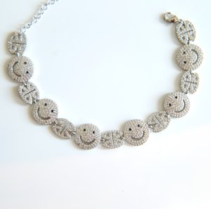 newest Smile Face Lucky Women Charm Bracelet Gold-color Adjustable Length Chain Bracelets for Women Party Wedding Jewelry