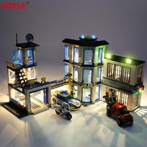 MTELE Marca LED Light Kit para 60141 City Series Police Station Iluminação Somente Q1126
