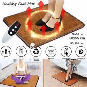 Aquecedores eléctricos inteligentes 220v Tapete do pé de aquecimento do inverno almofada de escritório mornar pés de termostato Tapete de couro de couro aquecedor de ferramentas de aquecimento