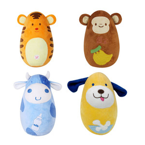 Baby Toddler Fun Inflatable Animals Cow Monkey Puppy Tiger Tumbler Soft Juggling Kids Development Toys Z1127