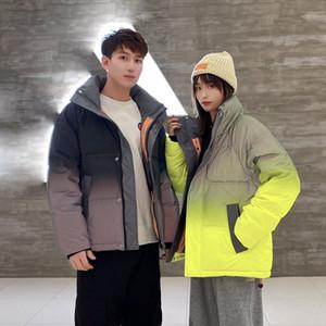 Mens Winter Outdoor Down Jacket Gradient Color Reflective Doudoune Womens Down Jackets Designers Turtleneck Jacketcoat Puffer Windbreaker
