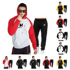 Hommes Sport Convers designers HH Pantalons Sweats à capuche 2pcs Tracksuits garçons Adolescent Décontracté Mode Capuche SweatShirt Pantalon de survêtement Ensembles de vêtements E112302