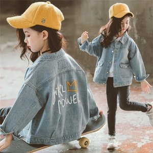 Unicorn Denim Jacket for Girls Coats Children Clothing Autumn Baby Girls Clothes Outerwear Jean Jackets & Coats for Child Girls Y200831