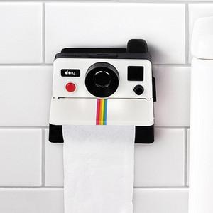 Yeni WC Doku Kutusu Yaratıcı Retro Polaroid Kamera Şekli Ilham Doku Kutuları Tuvalet Rulo Kağıt Tutucu Kutusu Banyo Retro Dekor Y200328