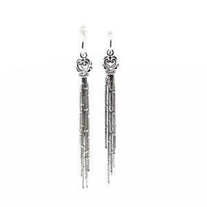 Woman Earrings Enchanted Tassels Drop Earrings Elegant Jewelry Making 925 Original Silver Fashion Earring Z1128