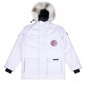 Z4GU Furtjy Inverno Abbigliamento da donna Cappotto Cappotto Sezione Big Fur Collo Parker Media e Pelliccia Pelliccia Pelliccia Lunga Parka Staccabile Spessore Liner Park Fox W