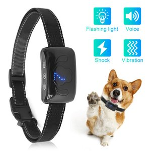 Dog Anti Bark Collar Waterproof With Beeps And Vibration Electric Anti Barking No Bark Training Collar Chargeable