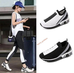 2020 New fashion Men Women Casual Shoes Luxe Sneakers Sock Shoes Top Quality Genuine Leather Embroidered EUR 35-45