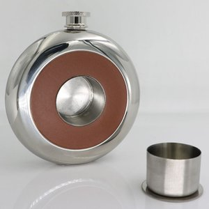 5 oz Round Stainless Steel Hip Flasks with Funnel Set Liquor Whiskey Alcohol Pocket Wine Bottle