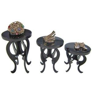 3 Pçs / conjunto Acrílico Jóias Display Stand Ring Ring Brincos Bracelete Ear Pulseira Mostrando Impressões Prateleiras Ornamentos De Armazenamento De Armazenamento