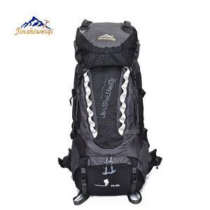Camping hiking bag Outdoor Climbing Backpacks Waterproof Nylon Travel Sport Mountaineering Bags Zipper Hiking Backpack 80L