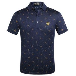2020 Designer Menswear Polos Brand Horse Coccodrillo Abbigliamento ricamato Abbigliamento maschile Tessuto Lettera Polo T-Shirt Collare Casual T-Shirt T-Shirt T-shirt