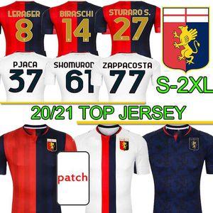 Uomini Uniformis Genoa C.F.C Jerseys de football 2020 21 Jerseys de football Zappacosta Maglia Pandev Cassata Pjaca Hommes Football Shirts S-2XL