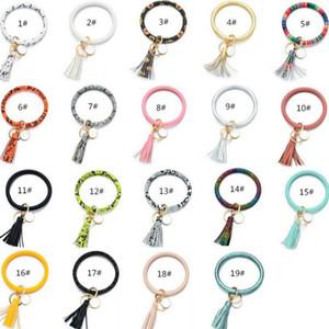 شرابات كيرينغ أساور معوار سلسلة المفاتيح سوار دائرة حلقة رئيسية الإسورة مفتاح سلسلة للنساء عباد الشمس صبار مجدوج المفاتيح