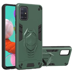 Dual Layer Shock-Absorption Cover Cover for Samsung S20 Plus Ultra Note 10 Plus A71 A51 A91 A81 A70 A50 A40 A10 A20 A31 With Kickstand