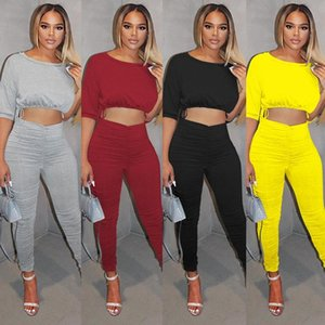 ZKYZWX Fall Two Piece Tracksuits Women Set Long Sleeve Strapless Tops Sexy Stacked Leggings Night Club Lounge Wear Outfits Suits