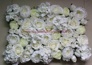 10pcs lot Ivory Artificial silk rose hydrangea peony flower wall Table centerpiece ball Arches decoration TONGFENG