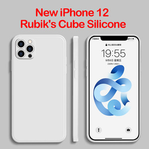 iPhone12 Rubik's Cube Straight Edge Liquid Phone Case Apple XsMax All-Inclusive Silicone 6 7 8 plus Cover Cell Phone Cases