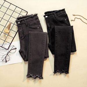 2019 Jeans Female Denim Pants Black Color Womens Jeans Donna Stretch Bottoms Feminino Skinny Pants For Women Trousers