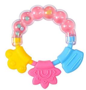 Silicone dent gum nouveau bébé dentition jouet cercle cercle bague bébé hochets mordant jouet kid joli jouet bébé bébé bébé rod molaire gwb3989