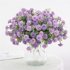 Artificial Flowers Simulation Hydrangea Garden Small Lilac Flowers Wedding Party Decoration Fake Silk Home Party