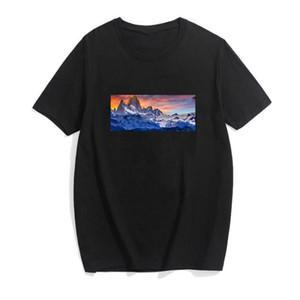T-shirt da uomo Designer da uomo 19SS in cotone a maniche corte in cotone spandex camicia da uomo sottile t-shirt da uomo morbido DHBOMC156