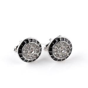 Runder Diamant Manschettenknöpfe Gentleman Business Anzug Hemd Manschettenknöpfe Button für Männer Modeschmuck Will und Sandy Drop Ship