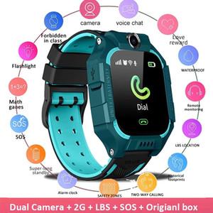 Q19 Kid Smart Watch LBS Position Location SOS Dual Caméra Lemfo Téléphone Smart Baby Regardez Voice Chat SmartWatch Mobile Montre VS Q02 Z6