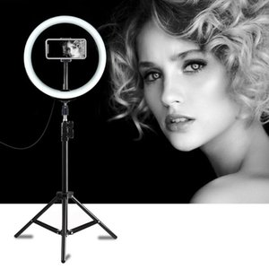 Camera With Video Selfie Ring Light Dimmable For PULUZ Makeup Ring Lamp Photography Stand Studio LED Phone 10inch Live Tripods Wudpq