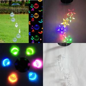 LED الطاقة الشمسية windbell مصابيح تلون شل حديقة ديكور الرياح الدقات ضوء حار بيع مع جودة عالية 24JA J1
