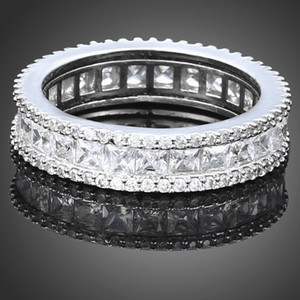 Women men fashion dress jewelry high quality crystals diamond ring Christmas queen festival gift party love