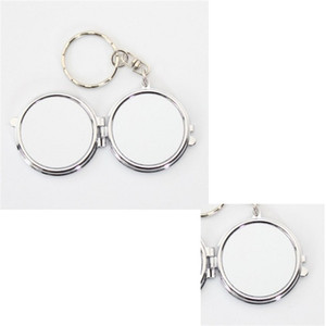 Stainless Steel Keyring Sublimation Blanks Cosmetic Mirror Compact Personality Key Buckle Outdoors Girl Keychain High Quality 3 2hy M2