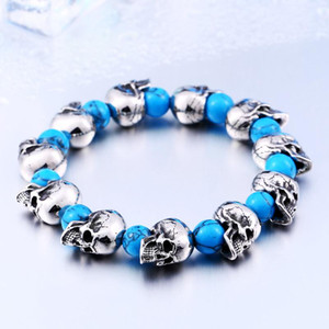 BEIER New Stainless Steel New Arrival High Quality Punk Skull Bracelet charms bangle Personality Fashion Men Jewelry BC8-039