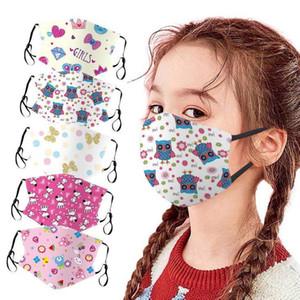 Children Face Washable Fashion Shield Reusable Protective Mouth Masks Cute Dinosaur Animal Print Kids Cartoon Mask DHD1618