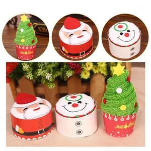 30x30 سنتيمتر البسيطة لطيف الاحتفال كعكة النمذجة منشفة القطن سانتا كلوز ثلج شجرة عيد الميلاد الآيس كريم هدية الإبداعية هدية