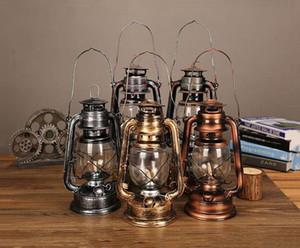Горячая распродажа 24см старый фонарь бронзовый керосин лампа старый масляный ламп винтажный фонарь ретро ностальгическая фотография реквизит