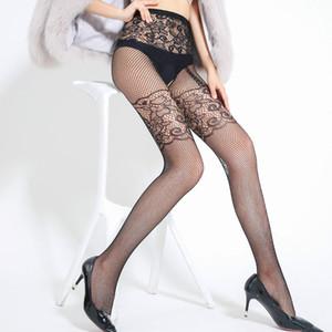 Jacquard Bas Sexy Open Open File Pêche Net Pantalon Fun Network Chaussettes Sangles Pantyhose Pour rendre l'érection des hommes Augmenter NY12