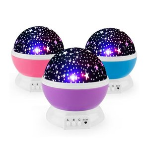 Rotating Night Light Projector Spin Starry Sky Star Charging Master Children Kids Baby Sleep Romantic LED USB Lamp Projection