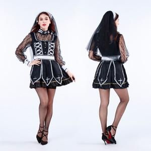 Japanisches Halloween-Kostüm Vampir Ghost Braut Nun Priester Spiel Uniform Cosplay Rollenspiel