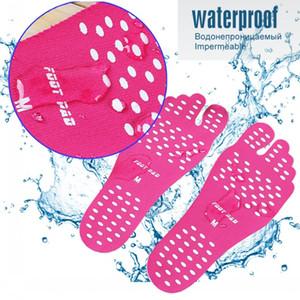Новые силиконовые унисекс пляжные ноги Patch Pads стельки мужчины удобные водонепроницаемые невидимые ботинки антискользящие коврики женские ножные подушки патча DHF3905