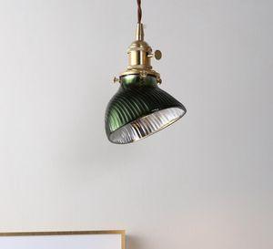 Dark green Glass Chandelier light luxury designer ins Nordic window lamp hallway dining room bedroom bedside personalized lamps