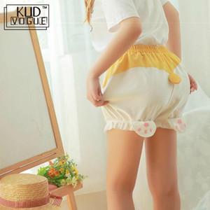 Restock 귀여운 수면 바닥 반바지 여성 Lolita Kawaii Corgi 엉덩이 반바지 Harajuku 호박 Bloomers 잠옷 탄성 허리