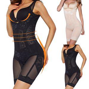 Shapewear Body Shaper Women Butt Lifter Waist Trainer Corrective Slimming Underwear Bodysuit Sheath Belly Faja Girdle Belts Ass 201105