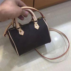 Novo design de luxo mulheres mini bolsa melhor qualidade speedy nano bolsa de ombro moda crossbody saco frete grátis