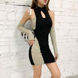 NJCE Neck Designer Vestidos Deep V Skinny Manga Longa Sexy Ladies Club Dresses Moda Womens Bodycon Vestido Lantejoulas