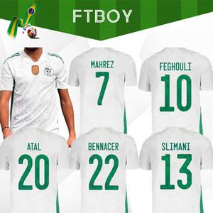 2020 2021 Argelia Mahrez Dos estrellas Fútbol 20 21 Atal KIDS SLIMANI BRAHIMI Inicio Bennacer camisas del fútbol de los uniformes del maillot de los pies