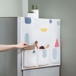 PEVA Холодильник висит мешок для хранения Духовка Водонепроницаемый пылезащитный чехол Креативный напечатанный холодильник Организатор Организатор сумка сумка Кухонная поставка DHD3349