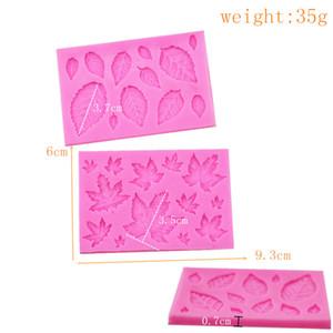 Silicone torta muffa rosa acero foglia tornitura zucchero cioccolatini fai da te strumenti di cottura di yellow accessori da cucina torte decorating rifornimenti nuovi 1 75JH m2
