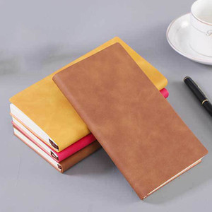 Retro Solid Color Notebook A5 A6 Meeting Record Notebook Notepad Journal Travel Diary Book Stationery Customized VTKY2269