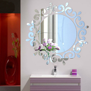 Hottest Room Acrylic Decal Art DIY Mirror Light Decor 3D Wall Sticker Home Decoration European Style